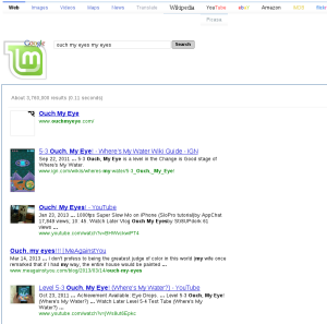 The awful search page that Mint installs